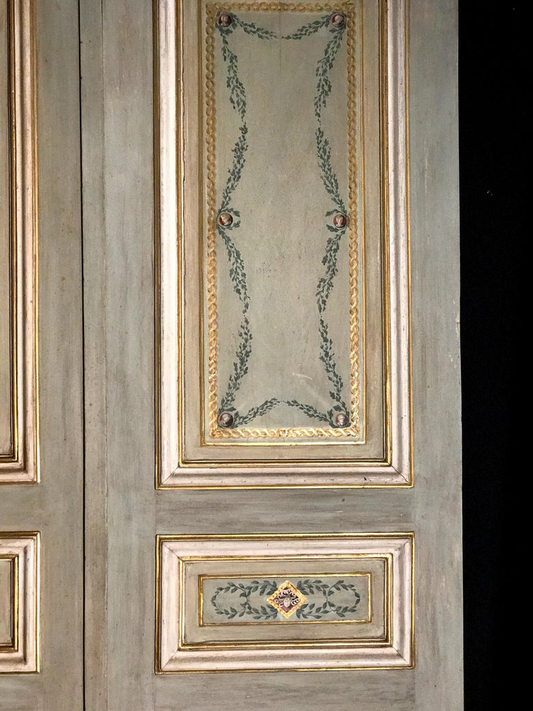 Four Pairs of 19th Century Italian Painted Doors or Panelling For Sale 2
