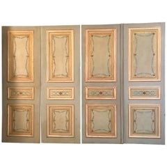 Four Pairs of 19th Century Italian Painted Doors or Panelling