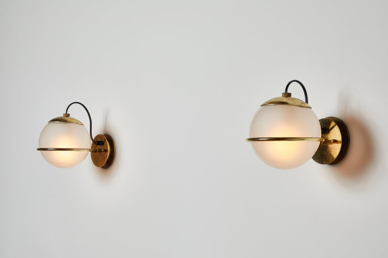Italian Four Pairs of Model 237/1 Sconces by Gino Sarfatti for Arteluce For Sale