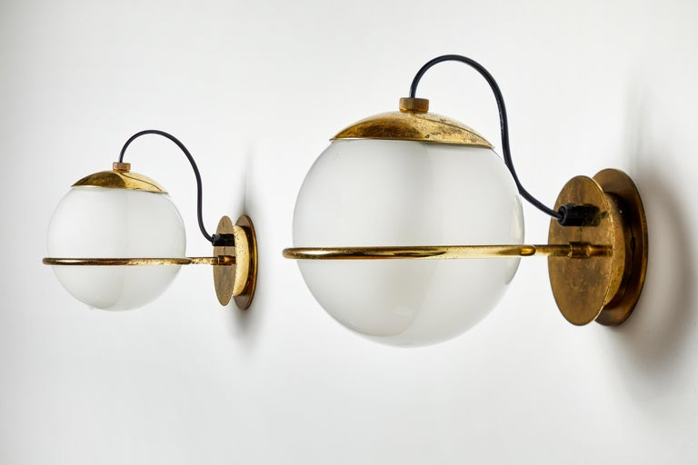 Four Pairs of Model 237/1 Sconces by Gino Sarfatti for Arteluce For Sale 2