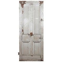 Four Panel Pine Beaded Reclaimed Door, 20th Century