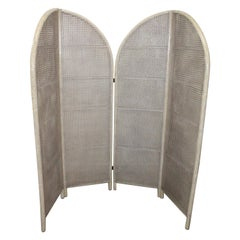 Four-Panel Rattan 1950s Room Divider