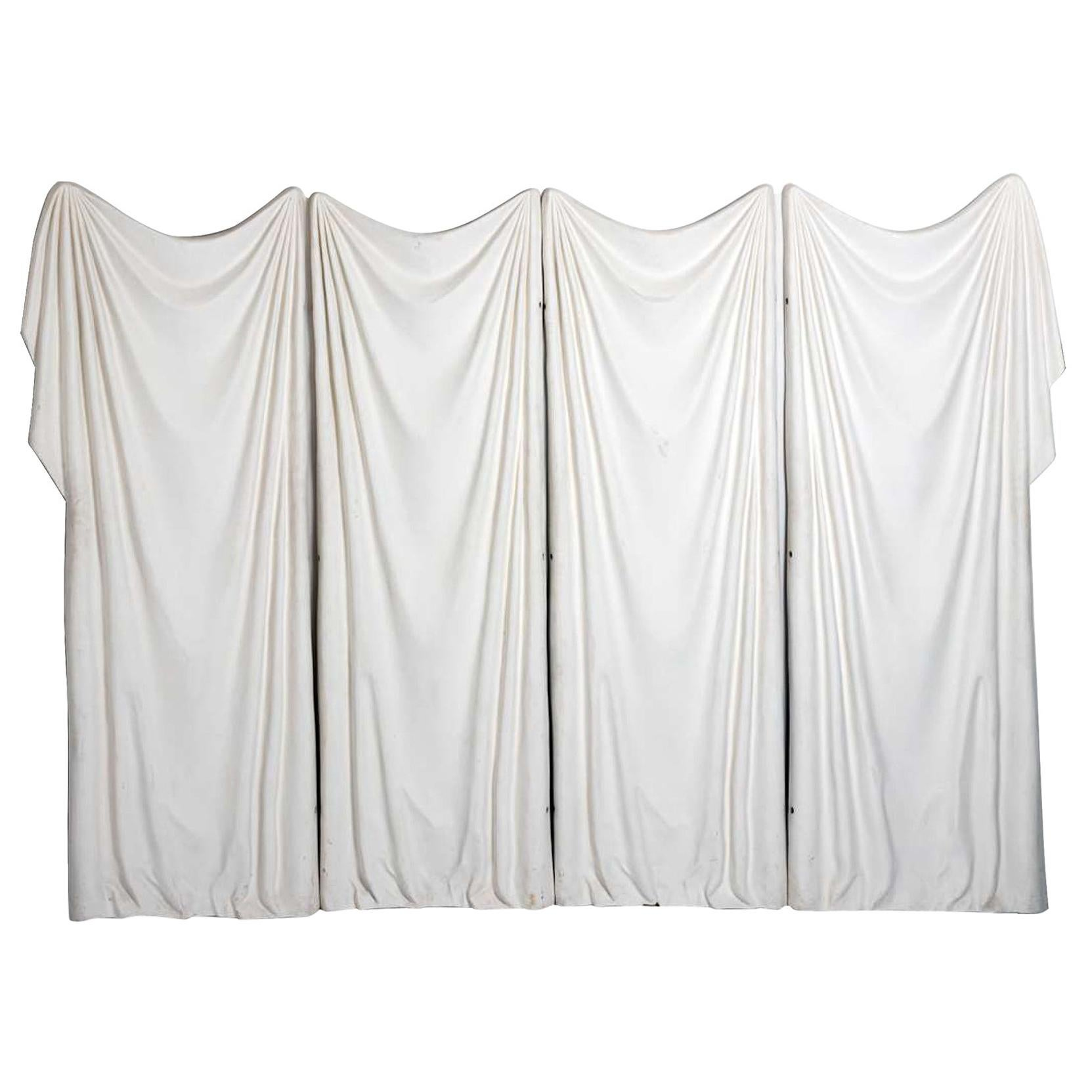 Four Panel Trompe L'oeil Fiberglass Screen by Marc Bankowsky