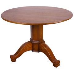 Four Person Round Dining Table Biedermeier Era