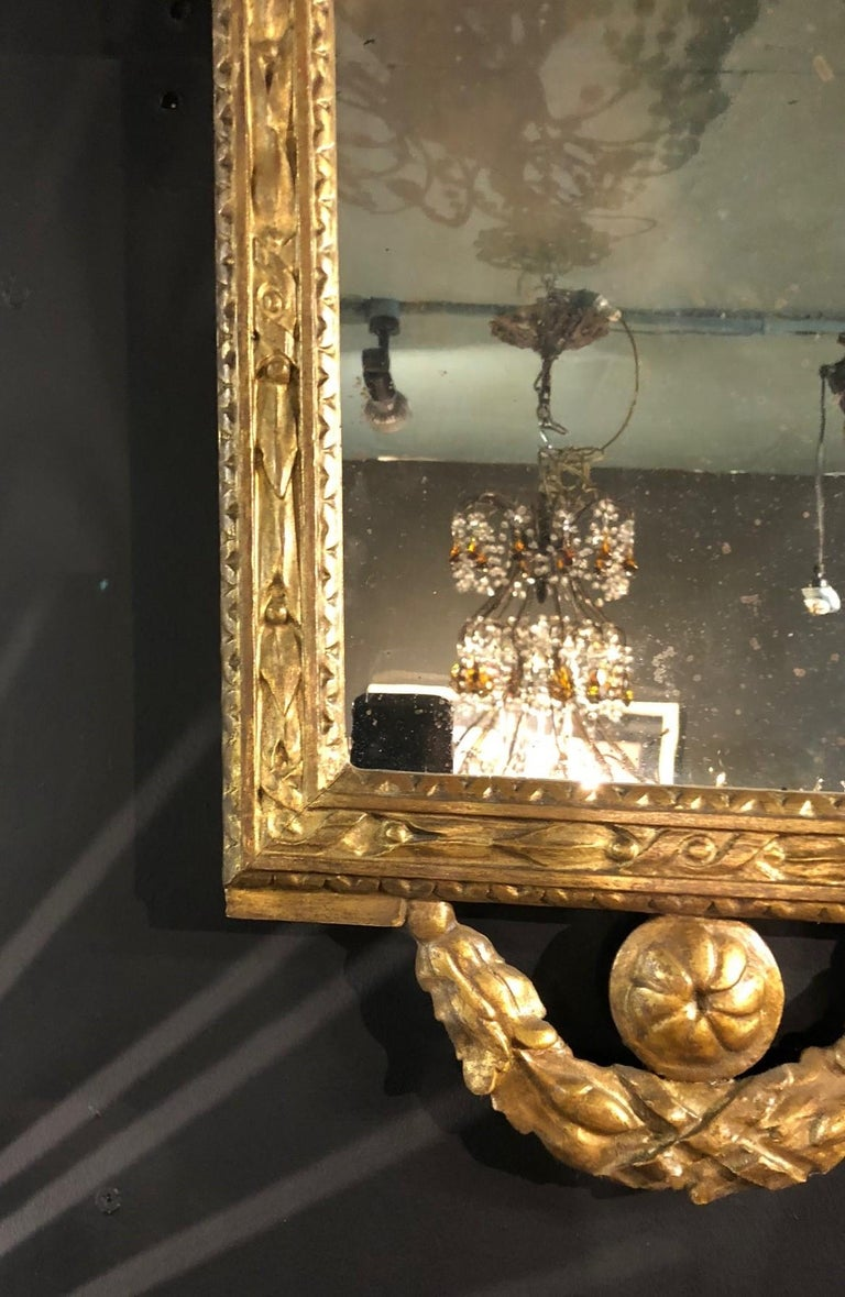 Wood Four Petite Italian 18th Century Giltwood Mirrors For Sale