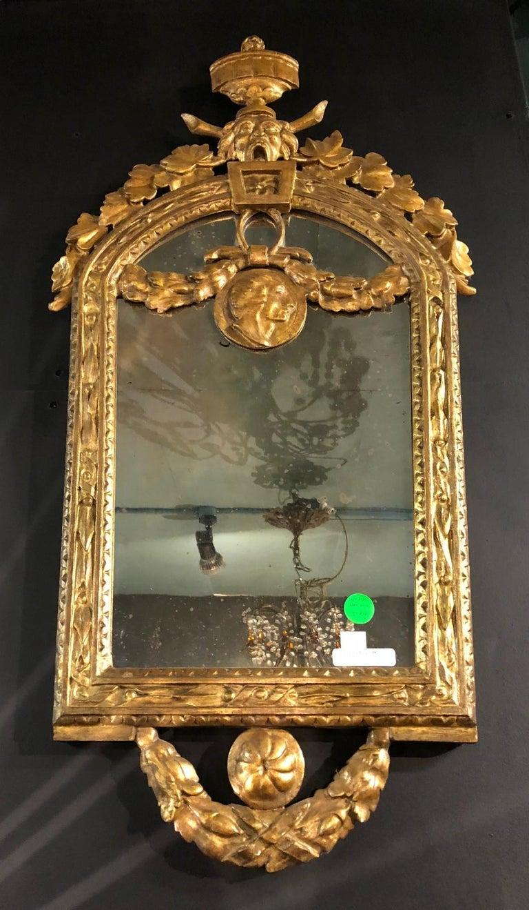 Four Petite Italian 18th Century Giltwood Mirrors For Sale 1