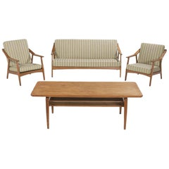 Four-Piece Danish Modern Oak Suite