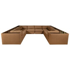Four-Piece Milo Baughman Sectional Sofa