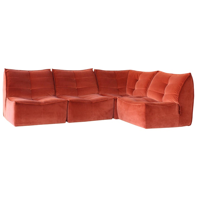 Four-Piece Sectional Sofa, Italy, 1960s at 1stdibs