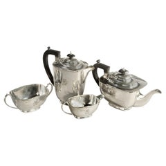 Four-Piece Silver Tea Set of Football Importance 1946 England