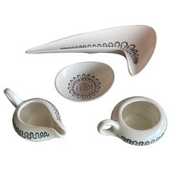 """Four Piece """"Space Age"""" Serving Set of by Metlox of California"""