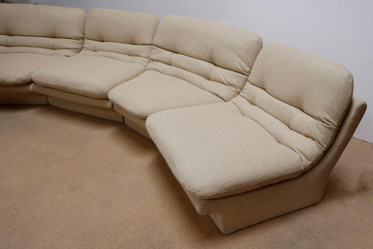 Mid-Century Modern Four Pieces Sectional Attributed to Vladimir Kagan For Sale