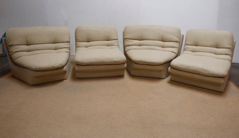Late 20th Century Four Pieces Sectional Attributed to Vladimir Kagan For Sale