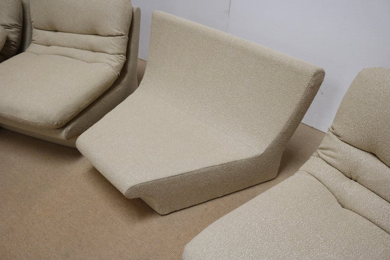 Upholstery Four Pieces Sectional Attributed to Vladimir Kagan For Sale