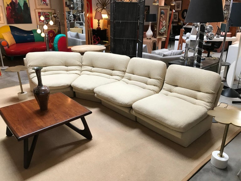 Four Pieces Sectional Attributed to Vladimir Kagan For Sale 2