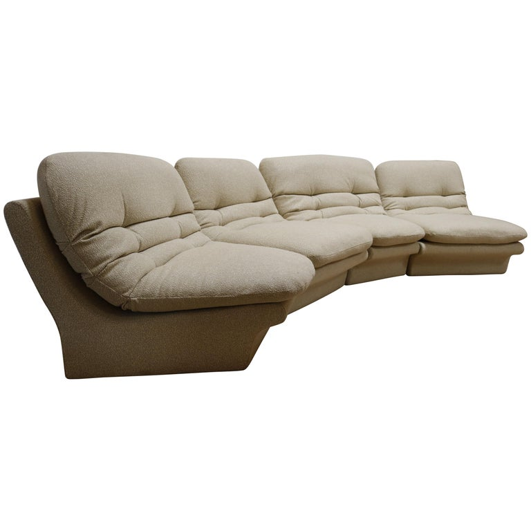 Four Pieces Sectional Attributed to Vladimir Kagan For Sale