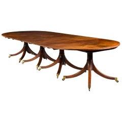 Four Pillar George III Mahogany Dining Table