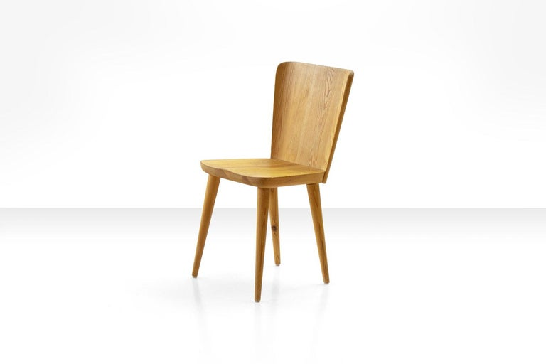 Four Pine Dining Chairs by Goran Malmvall for Karl Andersson & Söner, Sweden In Good Condition For Sale In Utrecht, NL