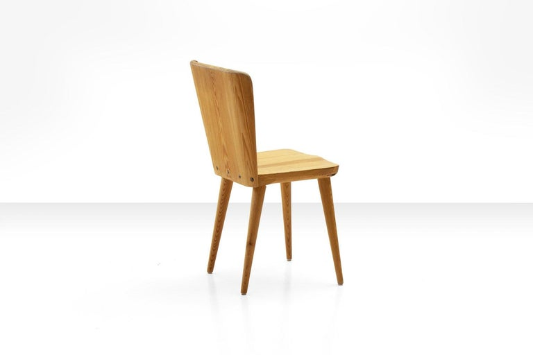 Four Pine Dining Chairs by Goran Malmvall for Karl Andersson & Söner, Sweden For Sale 1
