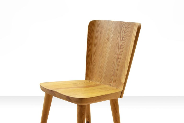 Four Pine Dining Chairs by Goran Malmvall for Karl Andersson & Söner, Sweden For Sale 2