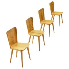 Four Pine Dining Chairs by Goran Malmvall for Karl Andersson & Söner, Sweden