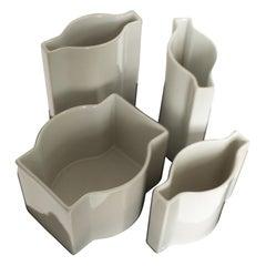 """Four Post-Modern """"Kombi"""" Vases by the Artist Margareta Hennix for Gustavsberg"""