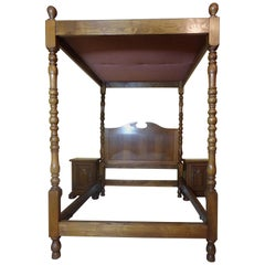 Four Poster Bed and Two Bedside Cabinets