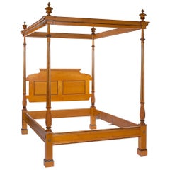 Four Post Byron Canopy Bed with Carved and Fluted Posts by Scott James Furniture