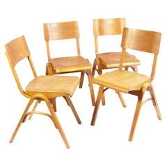 Four Rare Chairs Ton by Ludvík Volák, Zbyněk Hřivnáč and Jan Bočan