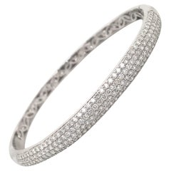 Four-Row Diamond Bangle 2.26 Carat 18 Karat White Gold