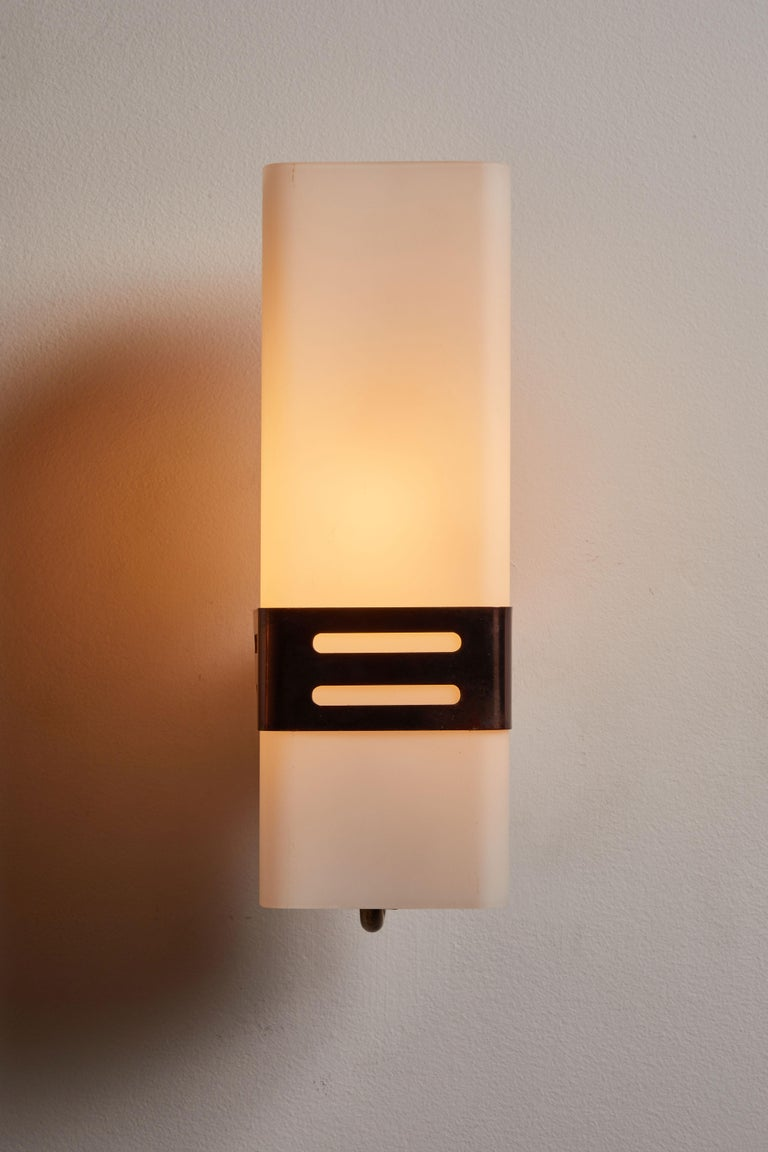 Mid-Century Modern Pair of Sconces by Stilnovo For Sale