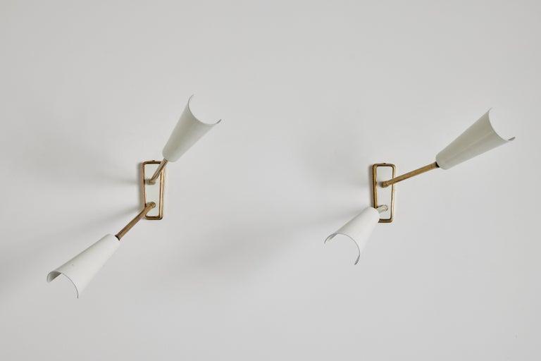 Enameled Four Sconces by Stilnovo