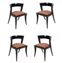 "Four Sculptural ""Prometheus"" Dining Chairs"