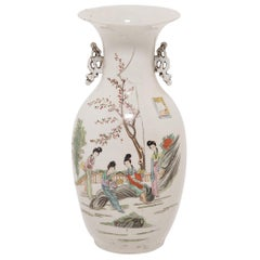 Four Seasons Chinese Phoenix Tail Vase