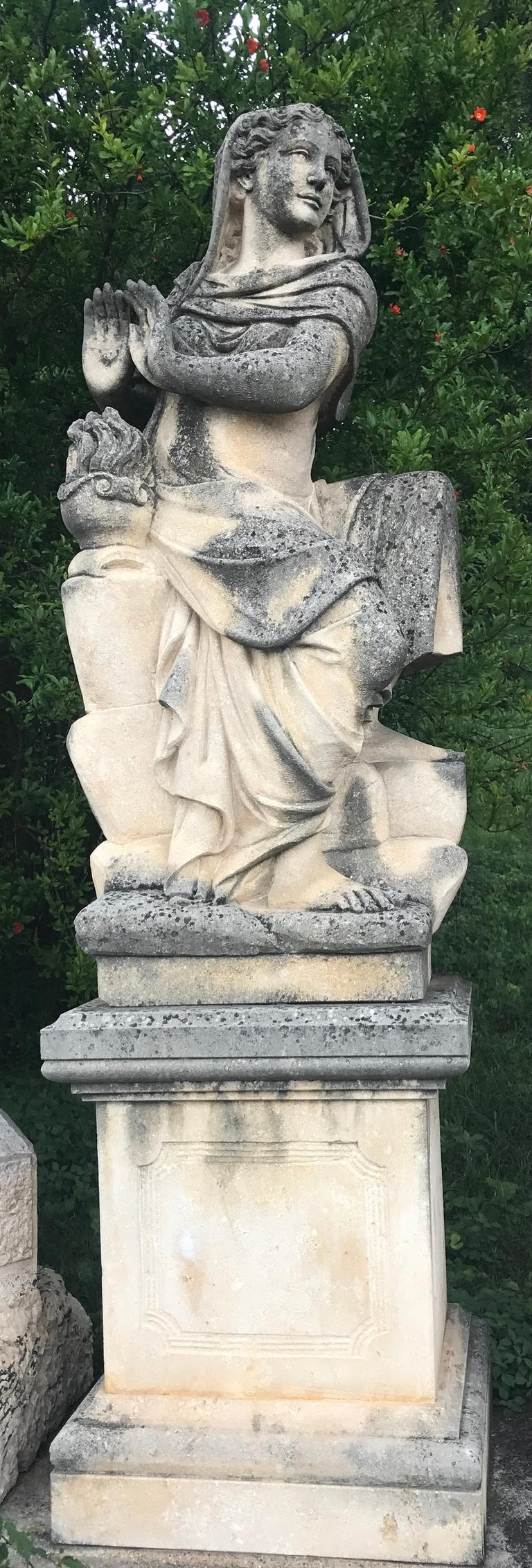 20th Century Four Seasons Extraordinary Italian Stone Sculptures For Sale