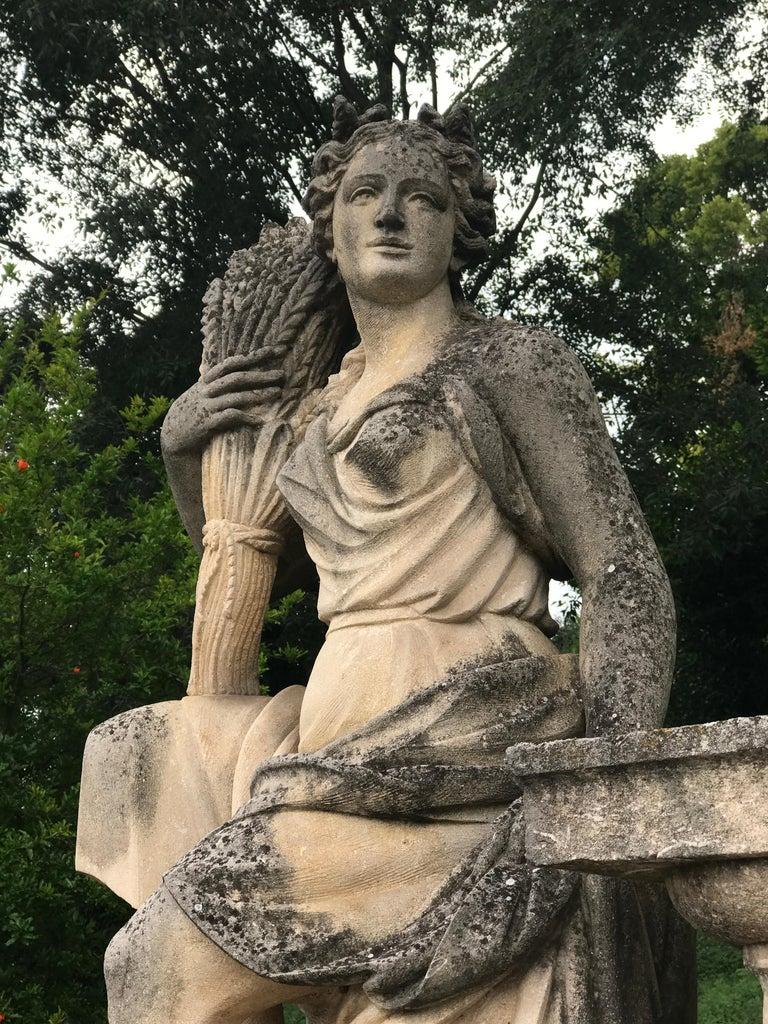 Stoneware Four Seasons Extraordinary Italian Stone Sculptures For Sale