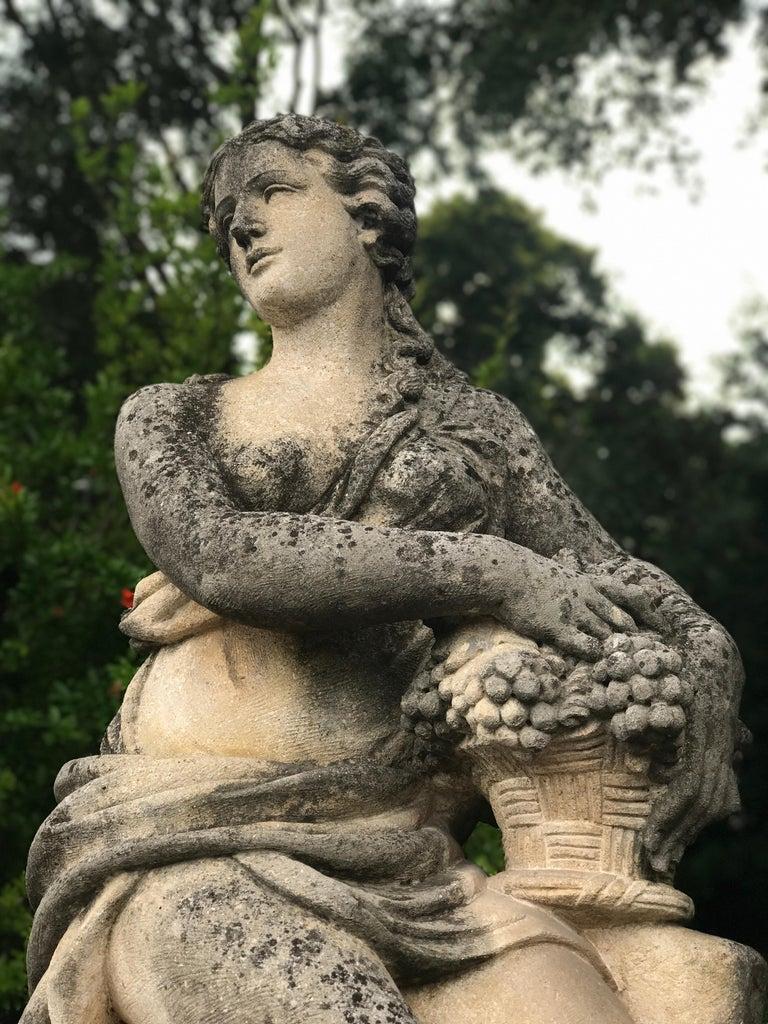 Four Seasons Extraordinary Italian Stone Sculptures For Sale 1