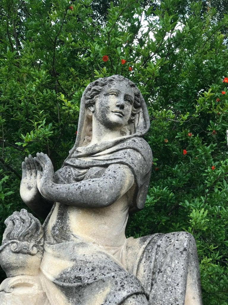 Four Seasons Extraordinary Italian Stone Sculptures For Sale 2