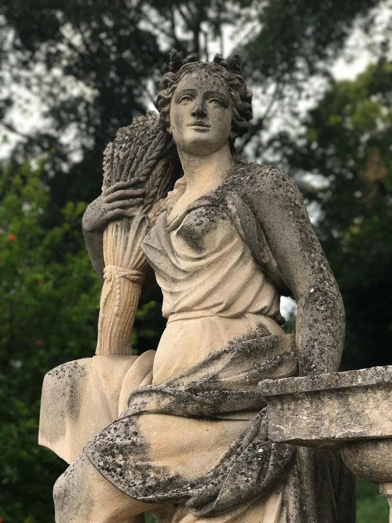 Four Seasons Extraordinary Italian Stone Sculptures For Sale 3