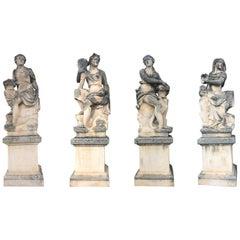 Four Seasons Extraordinary Italian Stone Sculptures