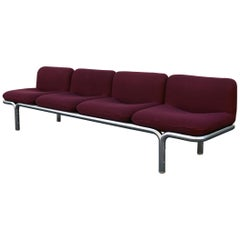 Four-Seat Chrome Tubular Sofa by Brian Kane for Metropolitan