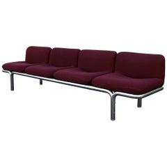 Four-Seat Chrome Tubular Sofa by Brian Kane for Metropolitan