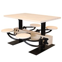 Four-Seat Swing-Out Dining Table, Custom Stain and Wood Options