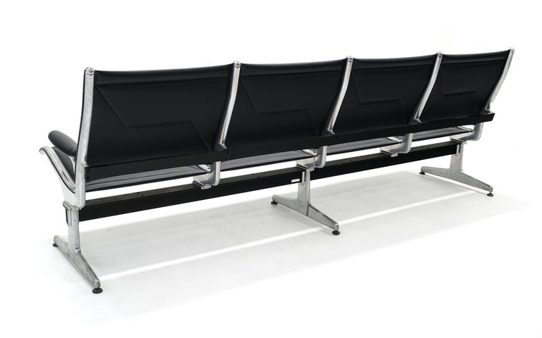 Mid-20th Century Four Seat Tandem Unit by Charles & Ray Eames for Herman Miller, No Middle Arms For Sale
