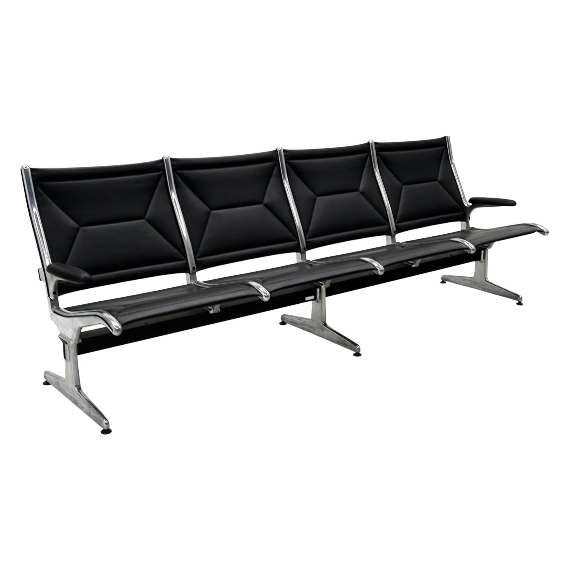 Four Seat Tandem Unit by Charles & Ray Eames for Herman Miller, No Middle Arms
