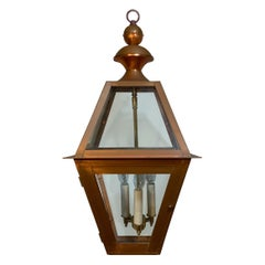 Four-Sides Hanging Copper Lantern