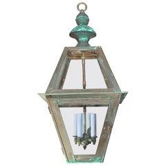 Four-Sides Hanging Copper Lantern