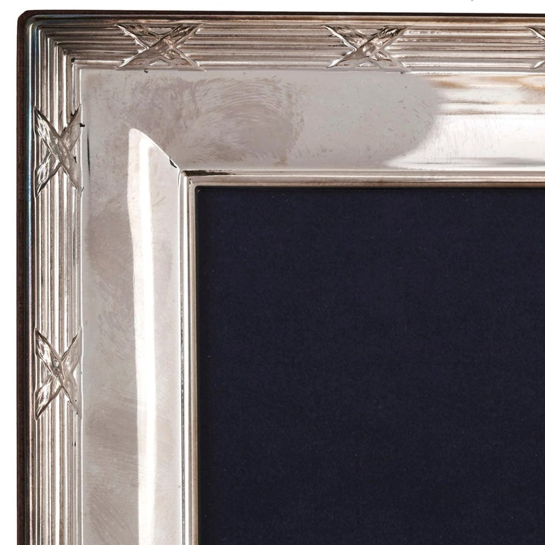 Neoclassical Four Silver Mounted Photo Frames by Carrs Silver For Sale