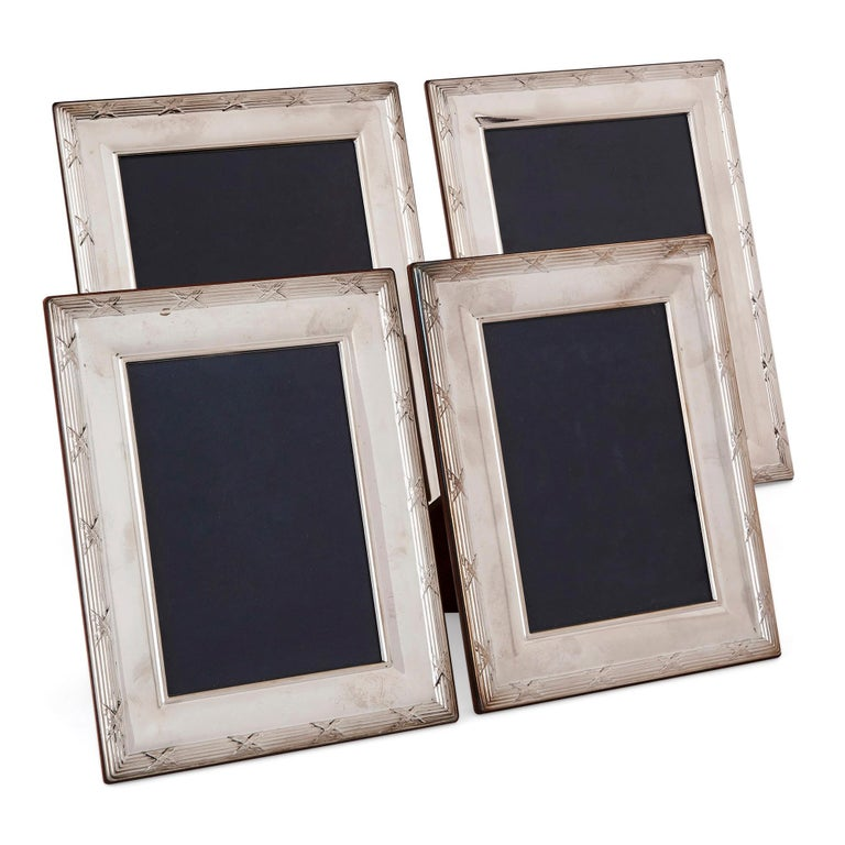Four Silver Mounted Photo Frames by Carrs Silver For Sale