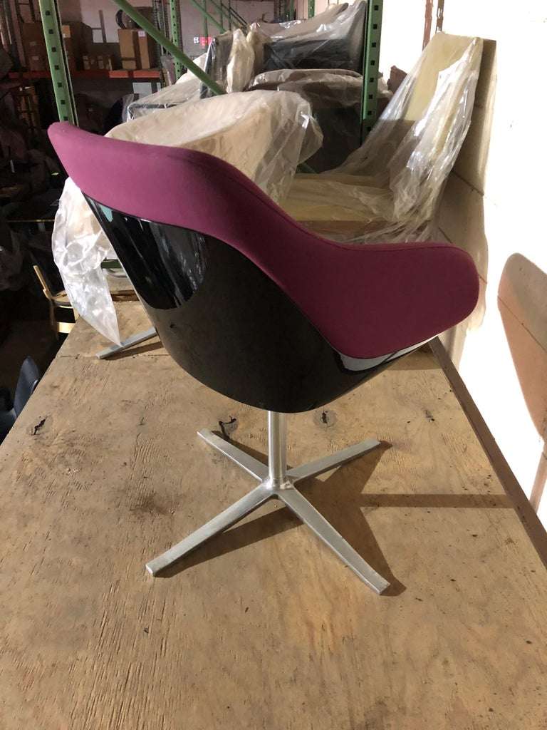 Contemporary Walter Knoll Four Star Base Turtle Chair For Sale